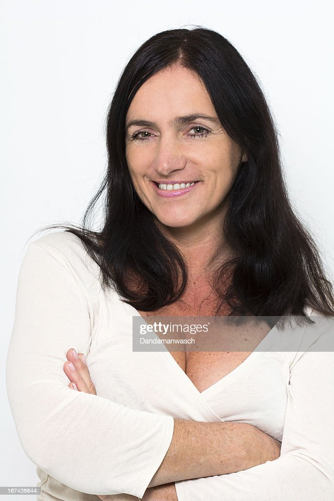 Portrait of a good looking mature Woman : Stock Photo