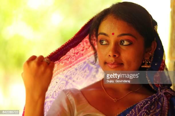 Portrait of a Graceful Indian Woman