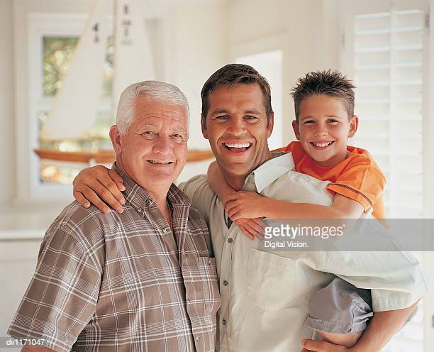 Portrait of a Grandfather, Father and Son in their House