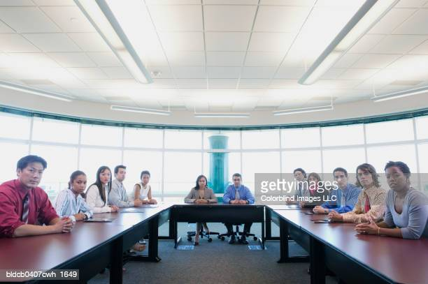 Portrait of a group of business executives in a conference