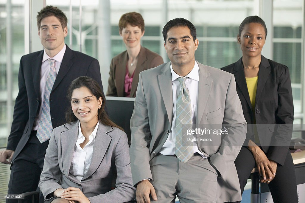 Portrait of a Group of Business Executives : Stock Photo
