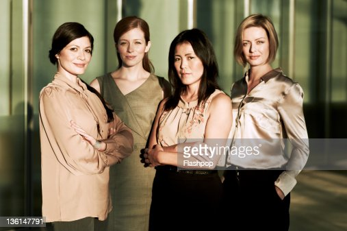 Portrait of a group of business women : Stock Photo