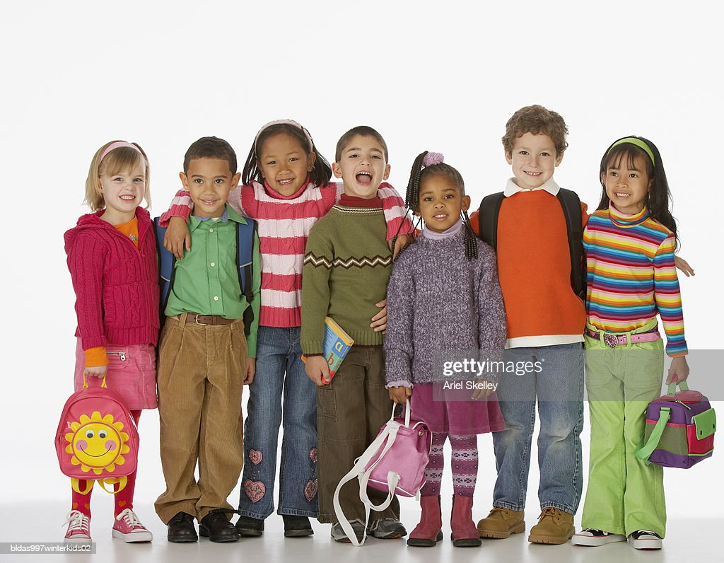 Portrait of a group of children : Stock Photo