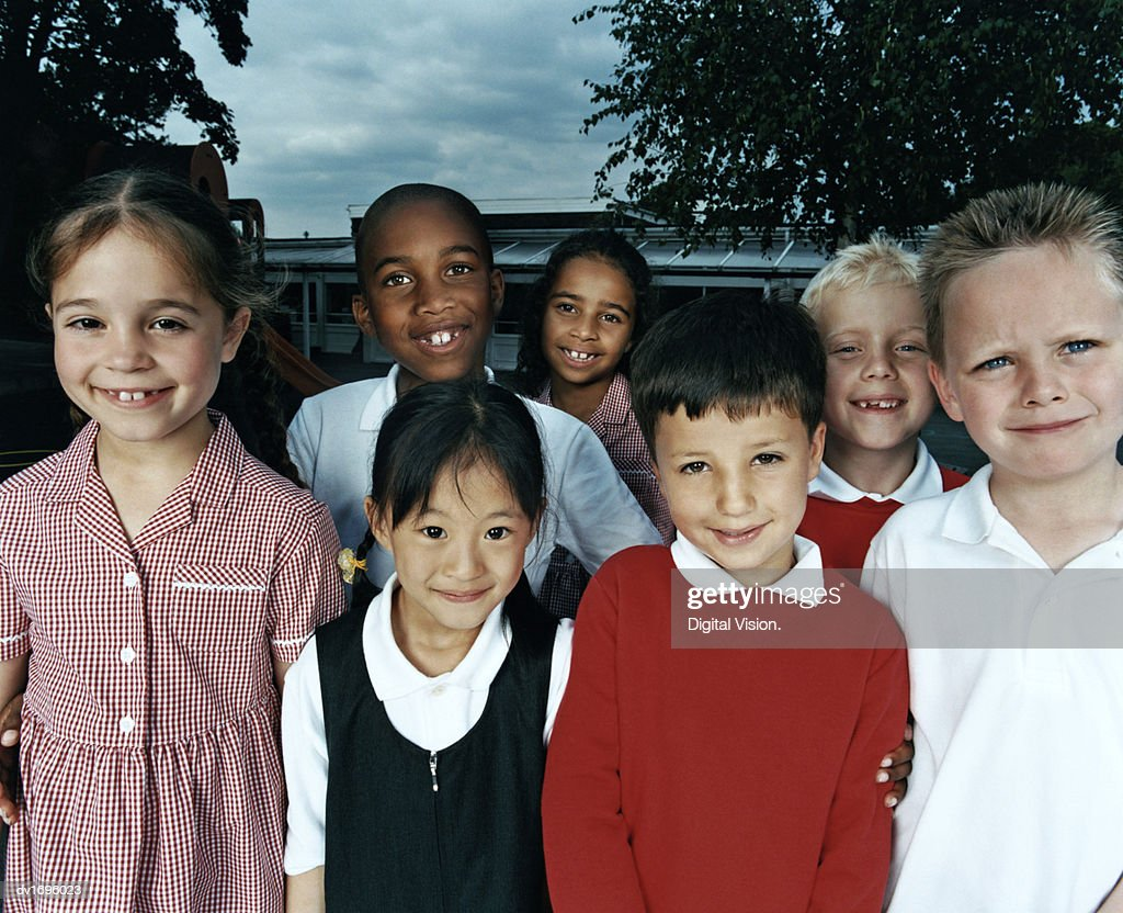 Portrait of a Group of Primary School Children : Stock Photo