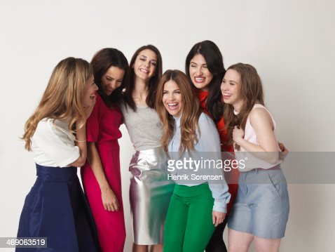 Portrait of a group of six young women