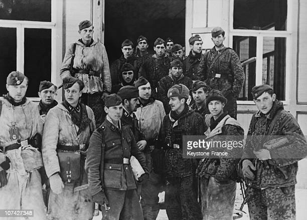 Portrait Of A Group Of Waffen Ss After A Mission In Germany On March 17Th 1944
