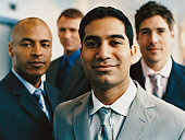 Portrait of a Group of Young Businessmen