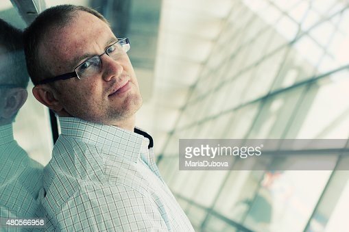 portrait of a handsome 35 years old man : Stock Photo