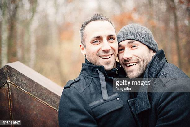 Portrait of a handsome homosexual couple