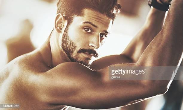 Portrait of a handsome muscular man.