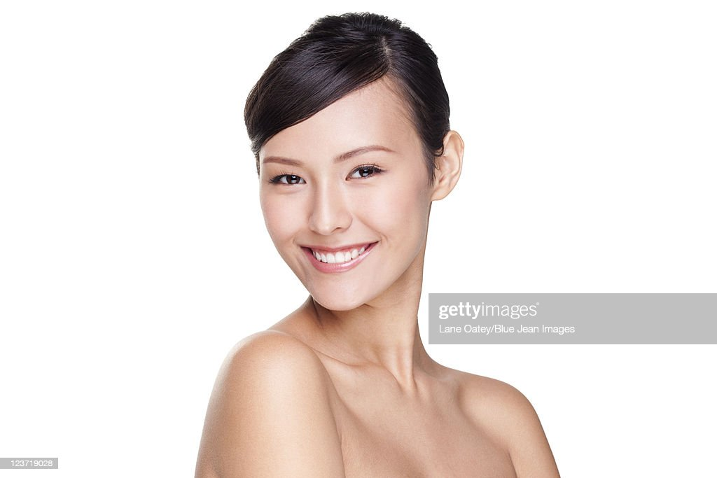 Portrait of a Happy Beautiful Young Woman : Stock Photo