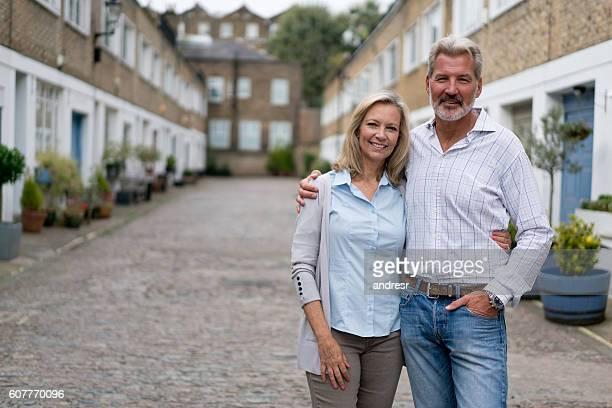 Portrait of a happy couple outside