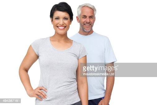 Portrait of a happy fit couple : Stock-Foto