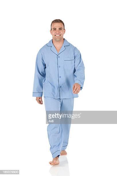 Portrait of a happy man walking