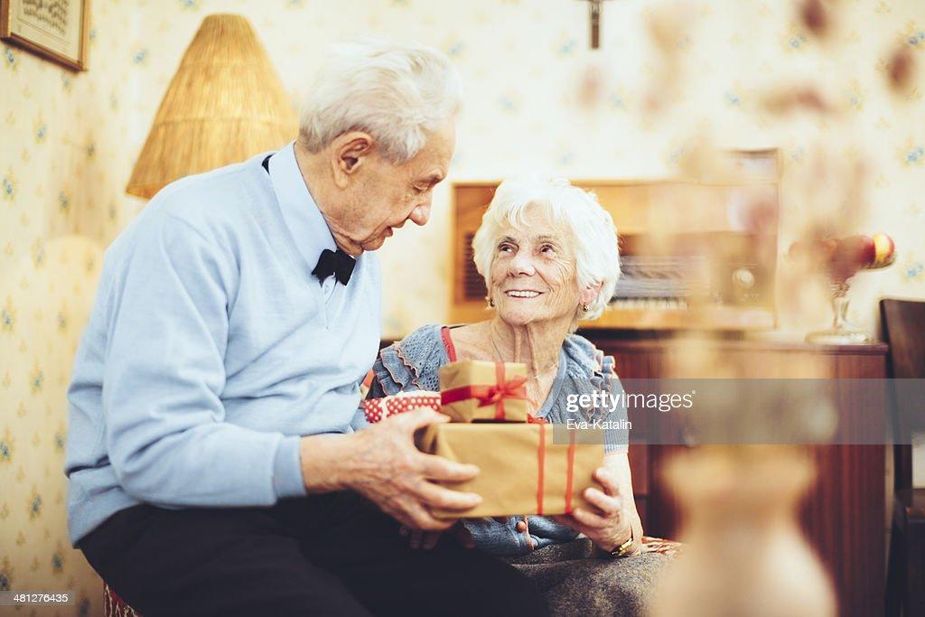 Portrait of a happy senior couple