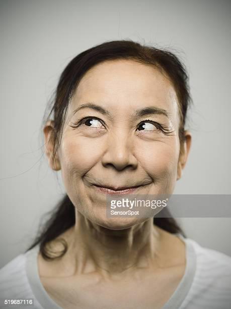 Retrato de un Senior mujer feliz japonés.