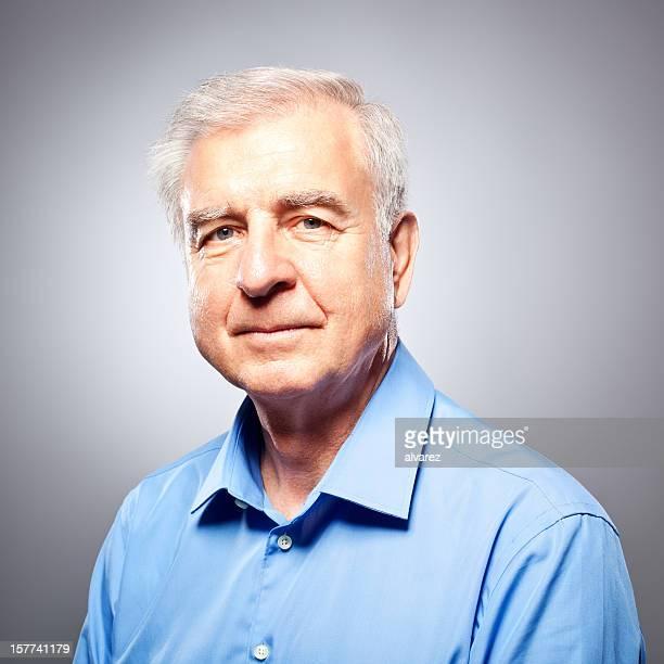 Porträt einer glücklich senior Mann