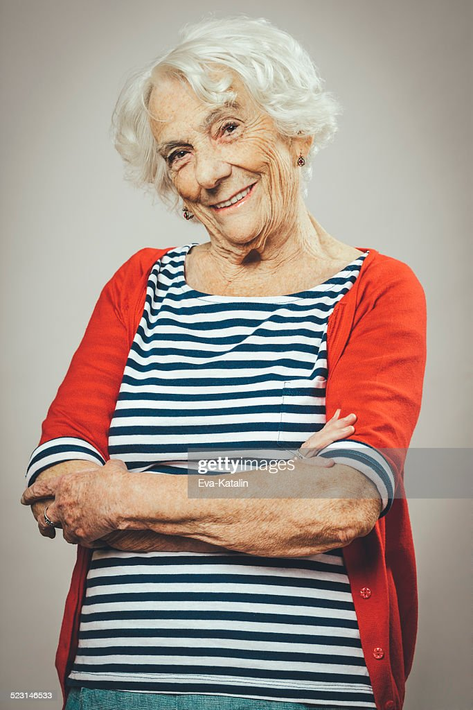 Portrait of a happy senior woman