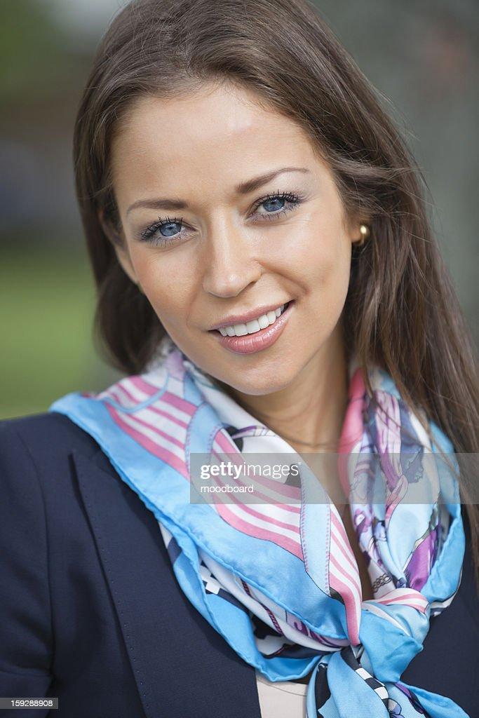 Portrait of a happy young businesswoman : Stock Photo