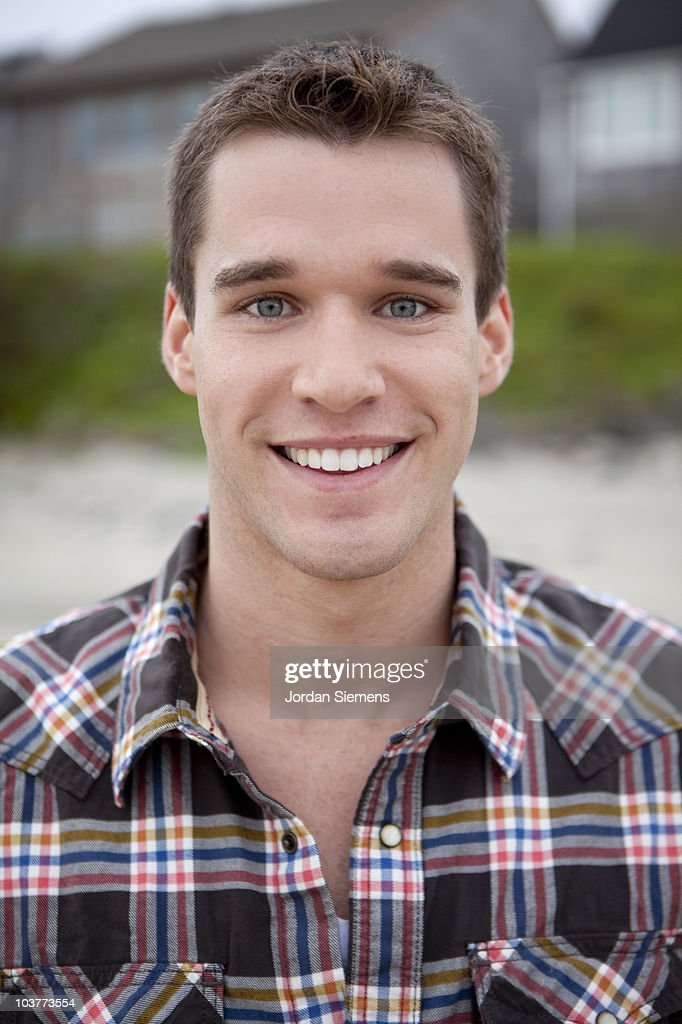 Portrait of a happy young male. : Stock Photo