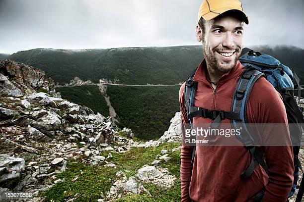 Porträt von einem Wanderer