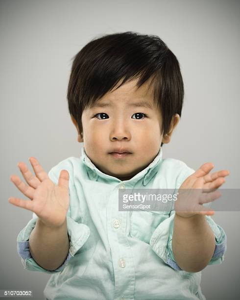 Portrait of a japanese baby.