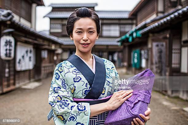 Portrait of a Japanese Women in Edo Period Town