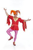 portrait of a jester in costume