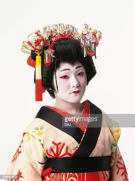 Portrait of a Kabuki actor acting as a female, Front View