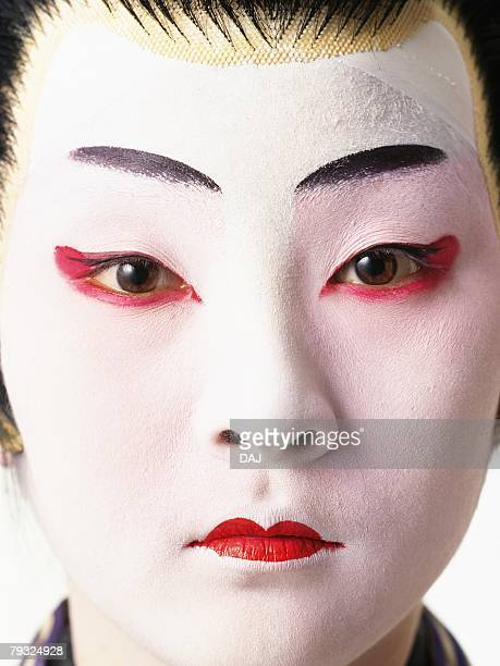Portrait of a Kabuki actor, Close Up, Front View