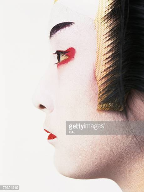 Portrait of a Kabuki actor, Close Up, Side View