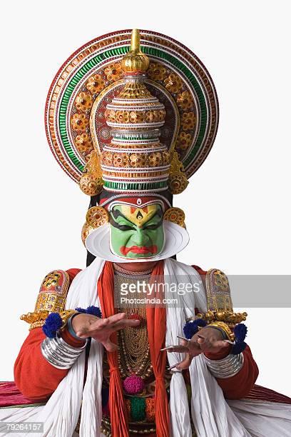 Portrait of a Kathakali dance performer
