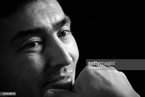 Portrait of a Kazakistan man