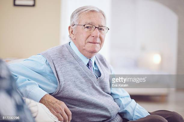 Portrait of a kind senior man