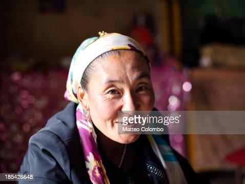 Portrait of a kyrgyz ethnic minority woman