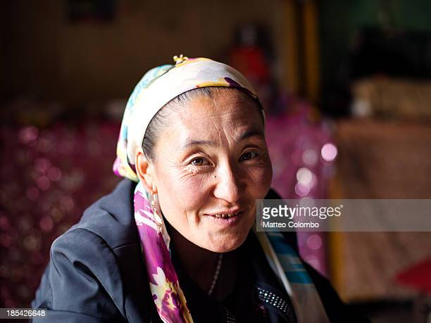 Portrait of a kyrgyz ethnic minority woman