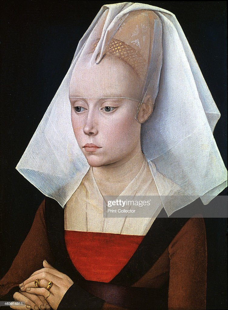 'Portrait of a Lady' 1460 The costume suggests a date after 1460 perhaps around 1466 It also suggests that the sitter is a gentlewoman rather than a...