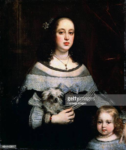 'Portrait of a Lady and a Little Girl' c1660 Suttermans Justus Found in the collection of the State A Pushkin Museum of Fine Arts Moscow