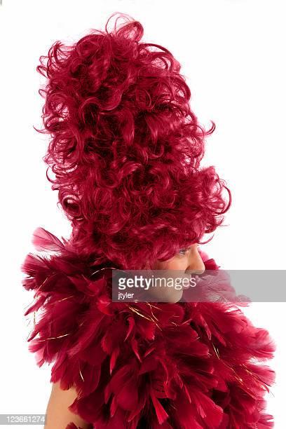 Portrait d'une dame en rouge
