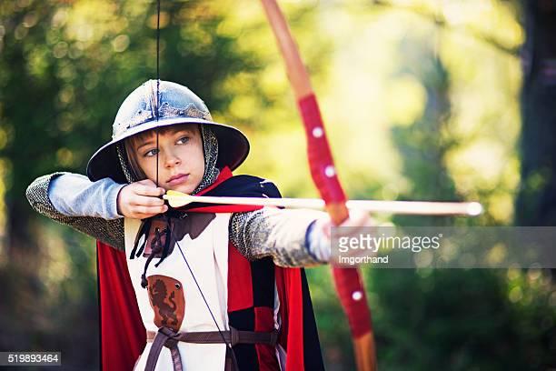 Portrait de petite fille un peu Archer