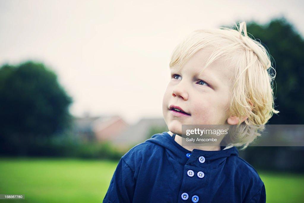Portrait of a little boy : Stock Photo