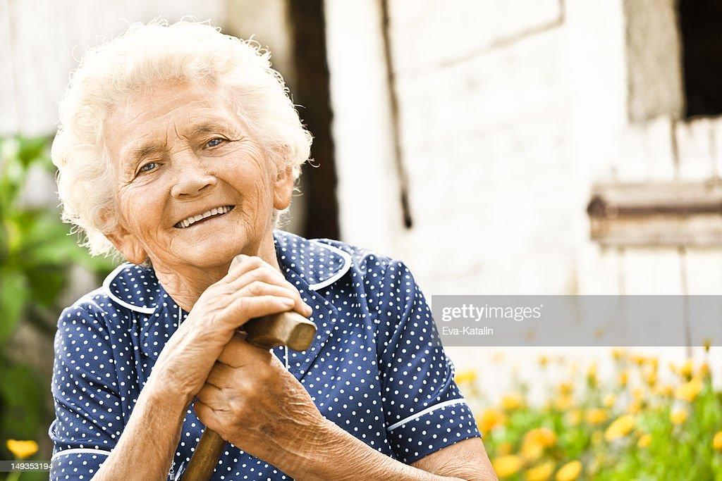 Portrait of a lovely grandma : Stock Photo