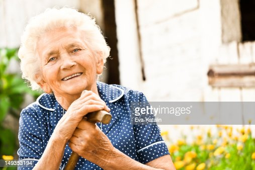 Portrait of a lovely grandma : Stock Photo