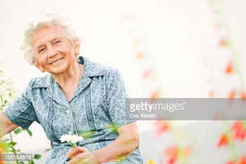 Portrait of a lovely grandma