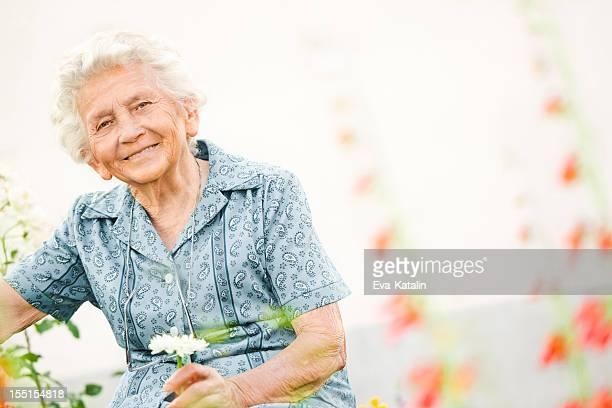 Porträt einer schönen Oma