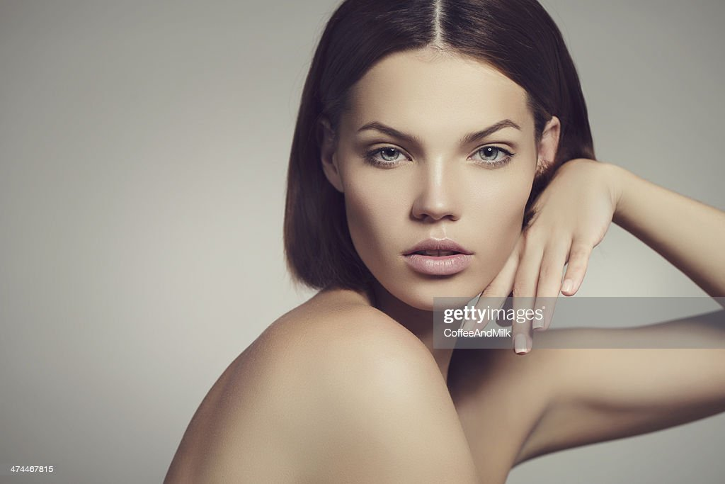 Portrait of a lovely woman : Stock Photo