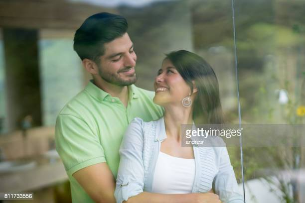 Portrait of a loving couple at a hotel on a romantic getaway