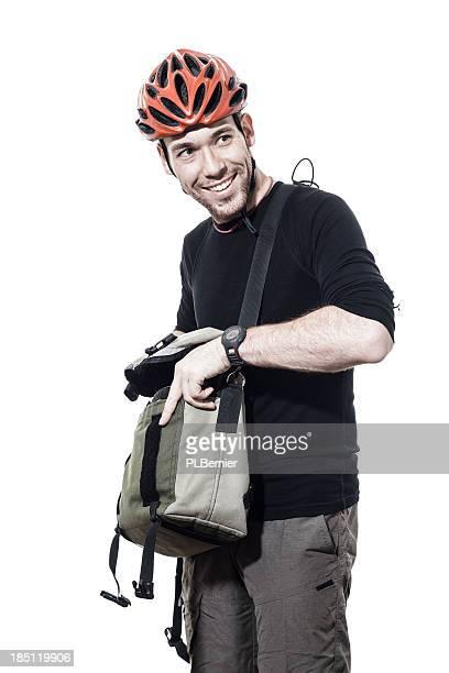 Portrait of a male commuter