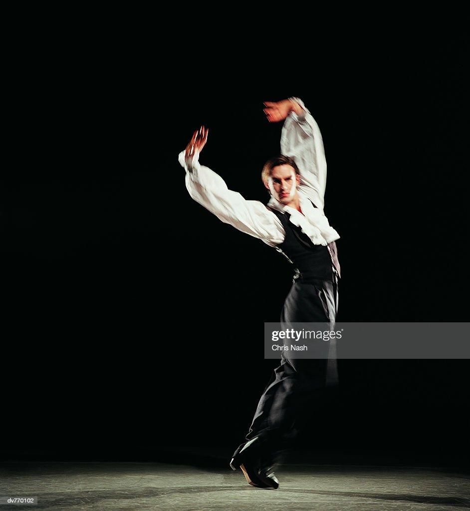 Portrait of a Male Flamenco Dancer