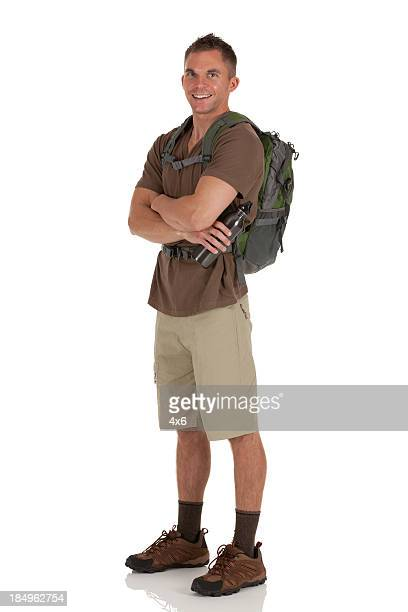 Portrait of a male hiker with his arms crossed